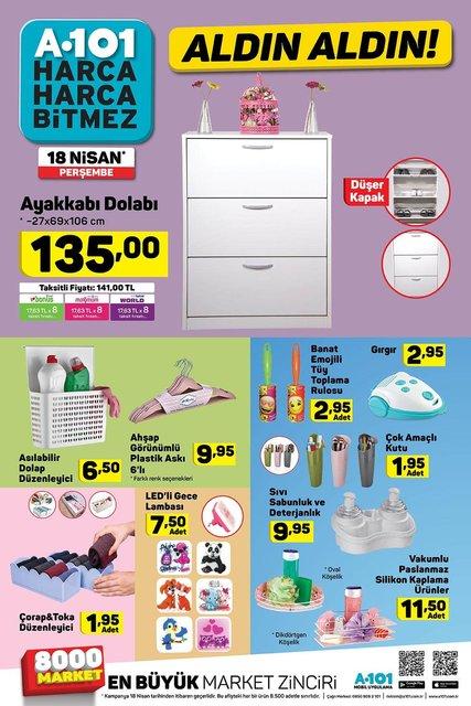 A101 18 Nisan Aktüel ürünler kataloğu! Perşembe günü A101'de hangi ürünler satışa çıkacak?