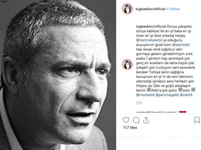 Tuğba Ekinci'den Mehmet Ali Erbil paylaşımı - Magazin haberleri