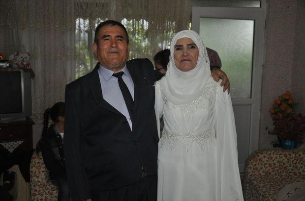 50 yıl sonra gelinlik ve damatlık giydiler