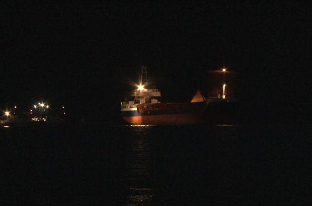 Kartal açıklarında gemide yangın alarmı