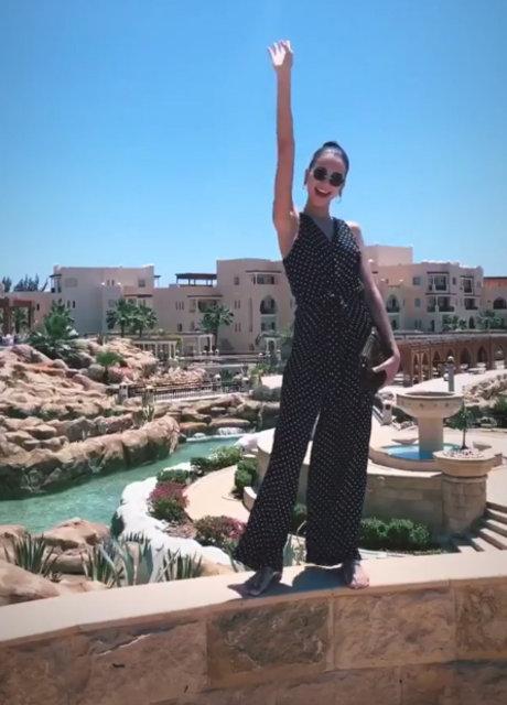Özlem Kaymaz'ın kızı Tara de Vries, Mısır'da - Magazin haberleri