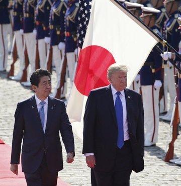 Trump, yeni imparatorun ilk misafiri olacak