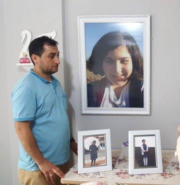 Geçen yil evinin önünde yarali bulunduktan sonra hastanede hayatini kaybeden 11 yasindaki Rabia Naz