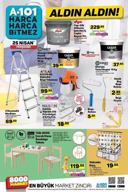 A101 25 Nisan aktüel ürünler kataloğu yayında! A101'de yarın hangi ürünler satışa çıkacak?