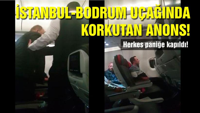 Bodrum uçağında korku dolu anlar!