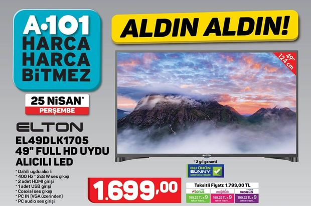 A101 25 Nisan Aktüel ürünler kataloğu 2019!