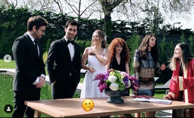 Hande Erçel'in ablası Gamze Erçel, Caner Yıldırım ile dünyaevine girdi - Magazin haberleri
