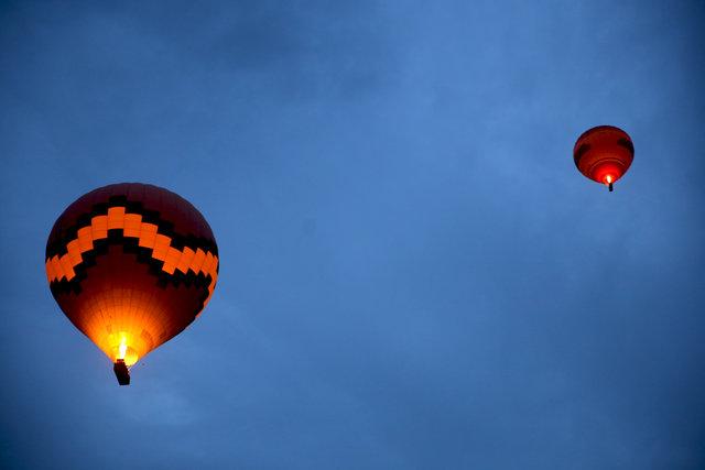 Balonlar, Kapadokya'ya masalsı bir güzellik katıyor