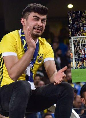 Fenerbahçe - Trabzonspor maçında ekrana yansımayan anlar...