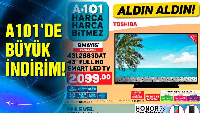 A101 9 Mayıs Perşembe aktüel ürünler kataloğu görücüde! A101'de TV, cep telefonu ve buz dolabı bir arada!
