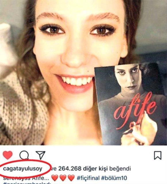Çağatay Ulusoy, Serenay Sarıkaya'nın fotoğrafını beğendi - Magazin haberleri