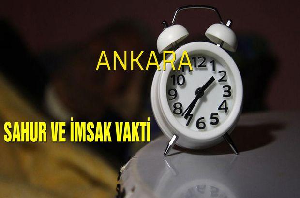 Ankara sahur saatleri 2019!
