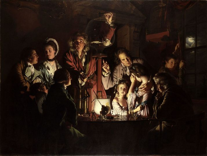 'An Experiment on a Bird in the Air Pump' (Joseph Wright)