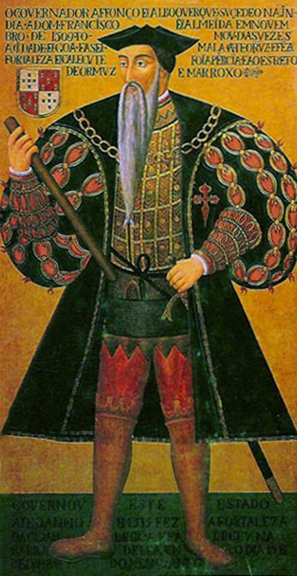 Hazreti peygamberin cenazesini çalma plânları yapan PortekizliAmiral Alfonso d'Albuquerque.