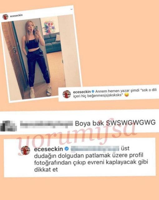 Ece Seçkin'i kızdıran yorum! - Magazin haberleri