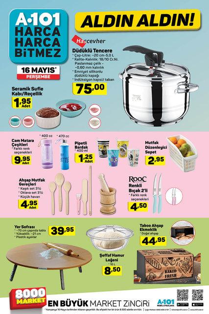 A101 16 Mayıs 2019 Aktüel ürünler kataloğu! A101'de Ramazan kampanyası! İşte katalog