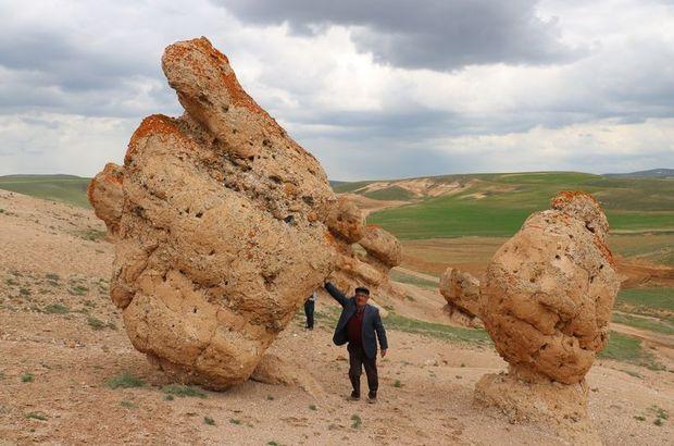 Sivas'ın esrarengiz kayaları!