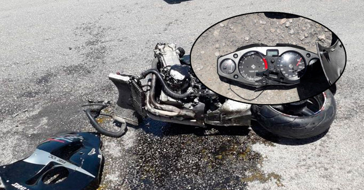 Bad motorcycle accident in Adana! The pointer stayed in 280