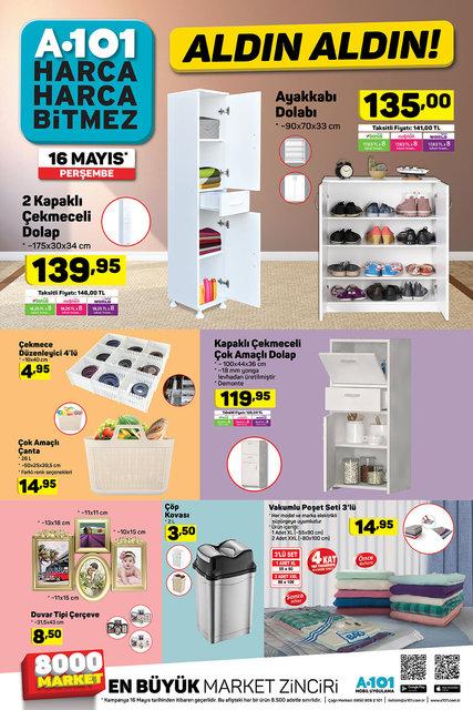 A101 16 Mayıs Aktüel ürünleri bugün satışa çıktı! A101'da bu hafta büyük indirimler var! İşte tam liste
