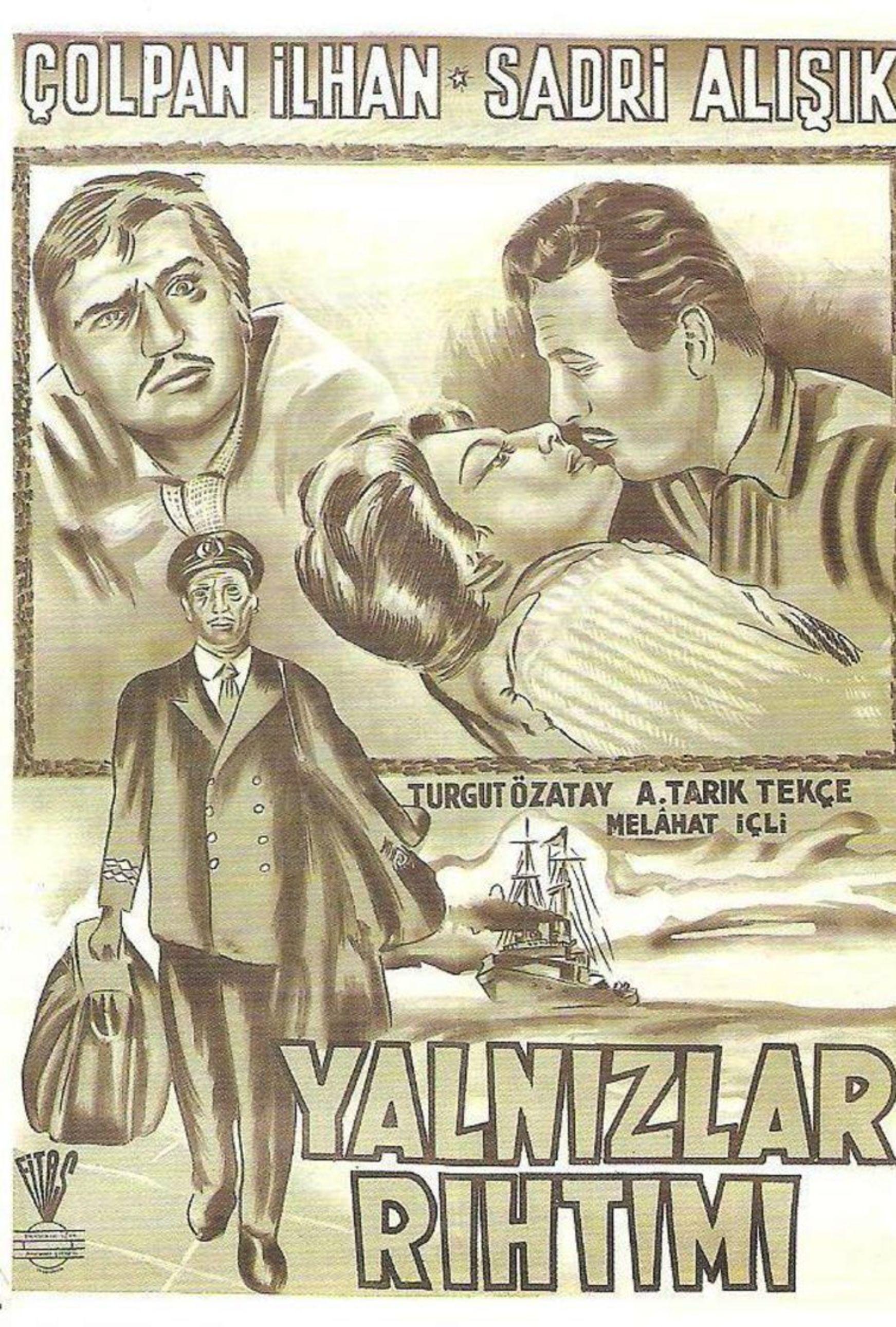 Türker İnanoğlu'nun Ömer Lütfi Akad'ı asiste ettiği 1959 yapımı 'Yalnızlar Rıhtımı', Sadri Alışık ile Çolpan İlhan'ın tanışarak birbirlerine âşık olduğu film.