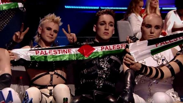 Ä°srail'deki Eurovision finaline Filistin bayraÄ?ı ile ilgili görsel sonucu