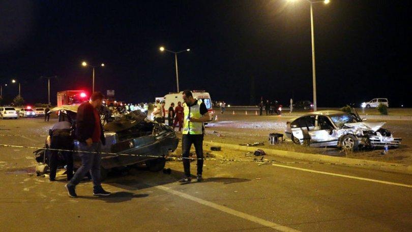 Kahramanmaraş'ta iki otomobil çarpıştı: 7 yaralı