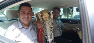 Galatasaray'ın kupası yola çıktı