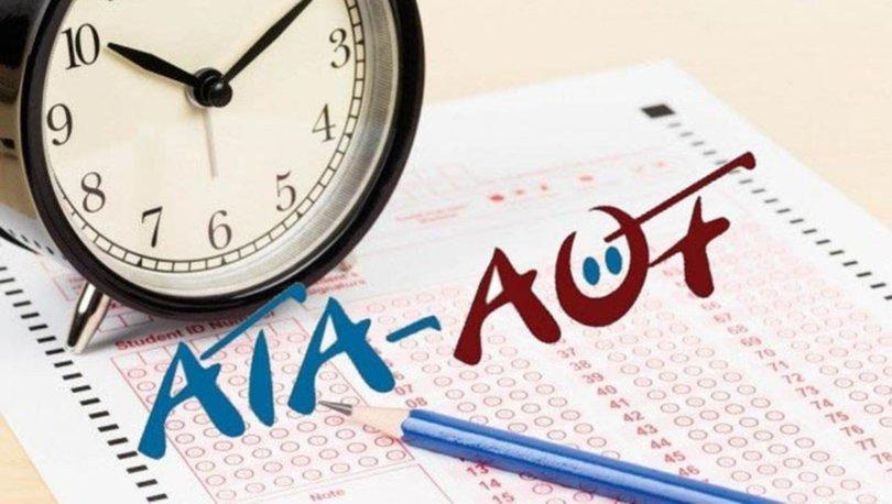 ATA AÖF sınav sonuçları açıklandı mı? 2019 ATA AÖF sınav soru ve cevapları