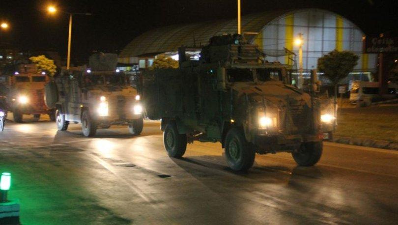 Hatay-Suriye sınır hattına gece yarısı askeri sevkiyat