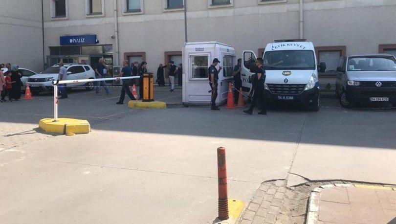 Sakarya'daki hastanede saldırı anı kameralara yansıdı