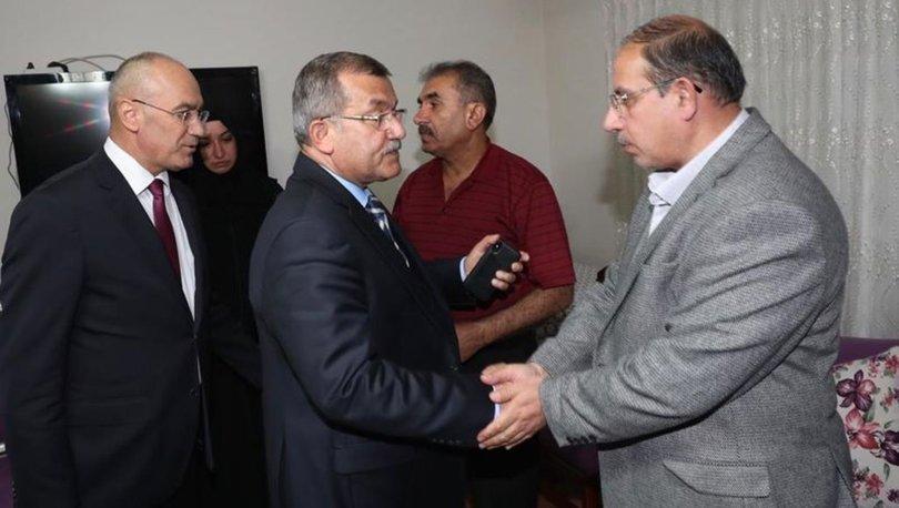 Emniyet Genel Müdürü Celal Uzunkaya'dan şehit ailesine taziye ziyareti