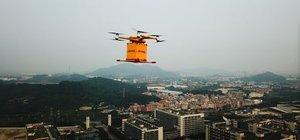 Drone ile teslimata başladı