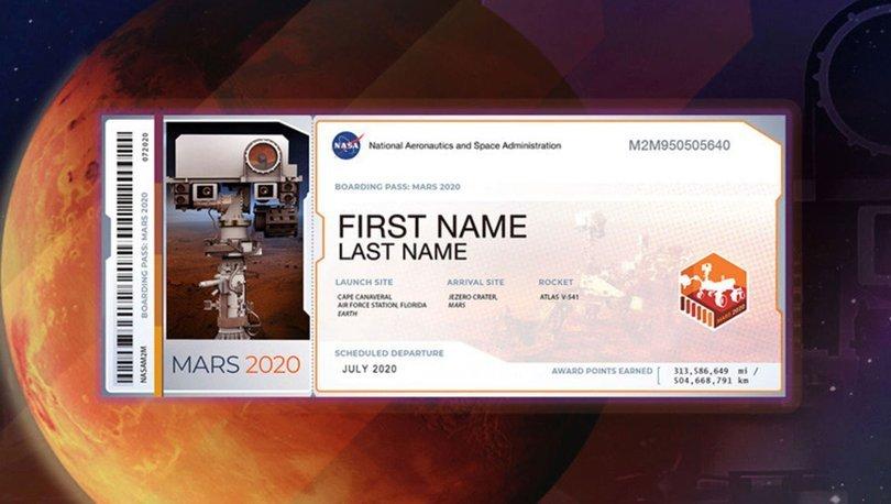 NASA Mars bileti nasıl alınır? 2020 NASA Mars bileti hazırlama! Marsa isim yollama işlemi