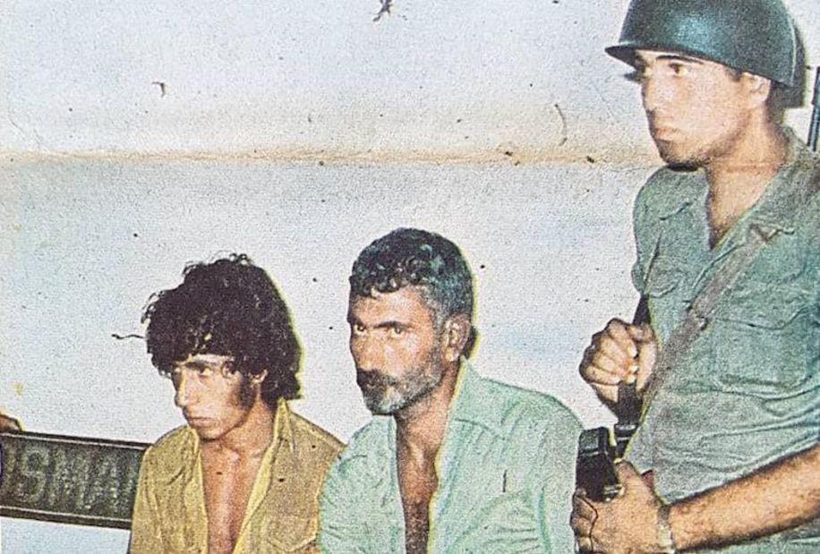 Yılmaz Güney ile yeğeni Abdullah Pütün'ün olaydan bir kaç saat sonra karakoldaki görüntüleri.