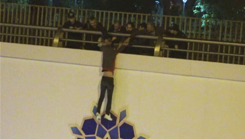 Ankara'da intihar girişimini polisler engelledi