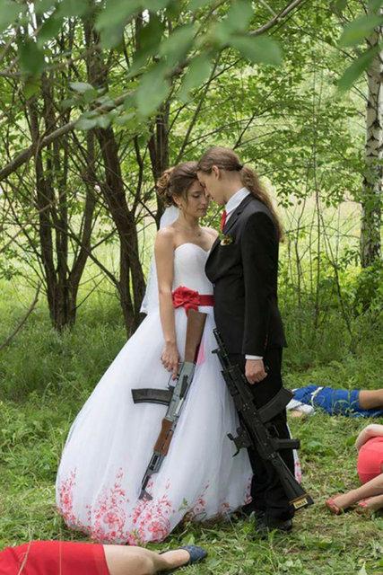 Rusların çılgın düğün fotoğrafları