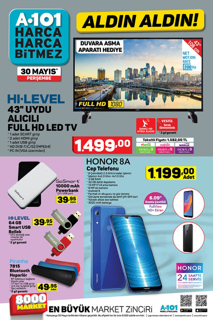 A101 30 Mayıs 2019 Aktüel ürünleri yarın satışta! A101'de Perşembe günü hangi ürünler indirimli olacak? İşte tam liste