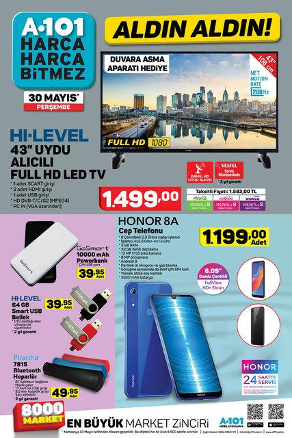 A101 30 Mayıs 2019 kataloğu! A101'de FULL HD LED TV sürprizi var! İşte indirimli ürünler listesi