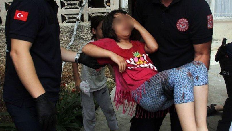 Yaralı kız çocuğu hastaneye kaldırıldı