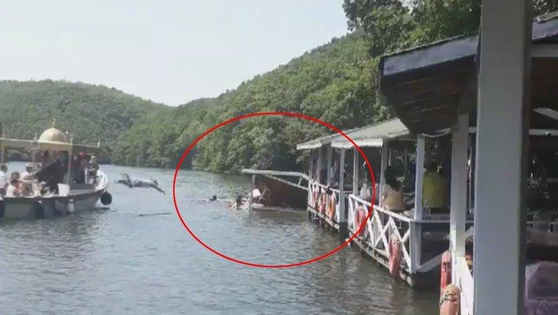 Son dakika: Şile Saklıgöl'de çardak çöktü! Vatandaşlar göle düştü