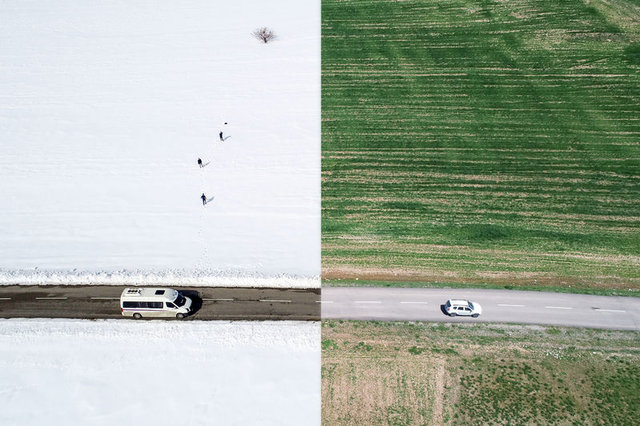 Kuş bakışı fotoğraflarla Türkiye'den yaz-kış manzaraları