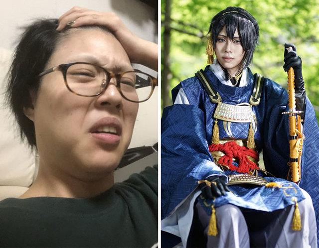 Asyalı cosplay sanatçılarının makyajsız halleri!