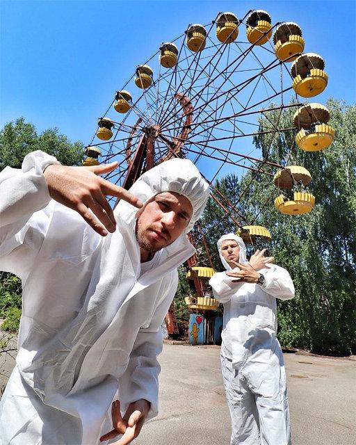 Çernobil'de iç çamaşırlı fotoğrafa tepki