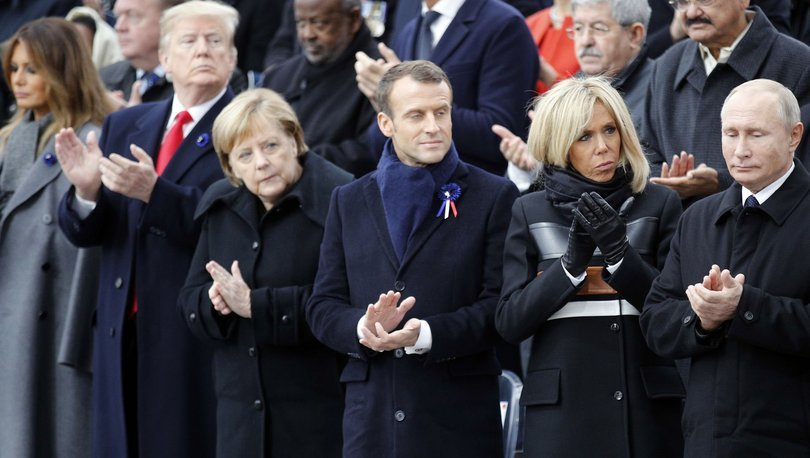Trump, Merkel, Macron, Putin
