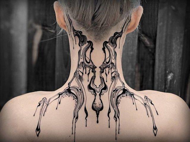 Birbirinden yaratıcı boyun dövmesi modelleri