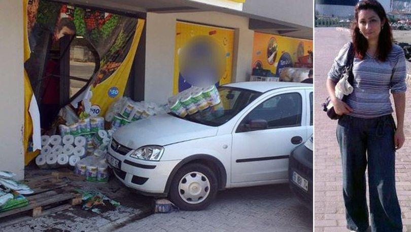 markete otomobille girdi ezip öldürdü
