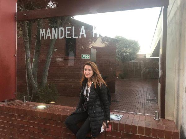 Johannesburg'da Mandela'nın evinde.