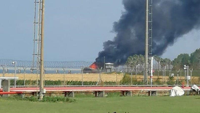 Botaş terminalinde restoran yangını