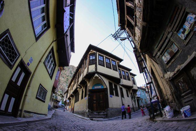 Afyonkarahisar'daki tarihi evler.