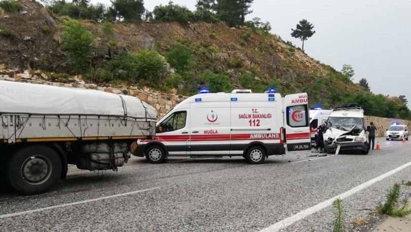 Muğla'da feci kaza! 14 yaralı